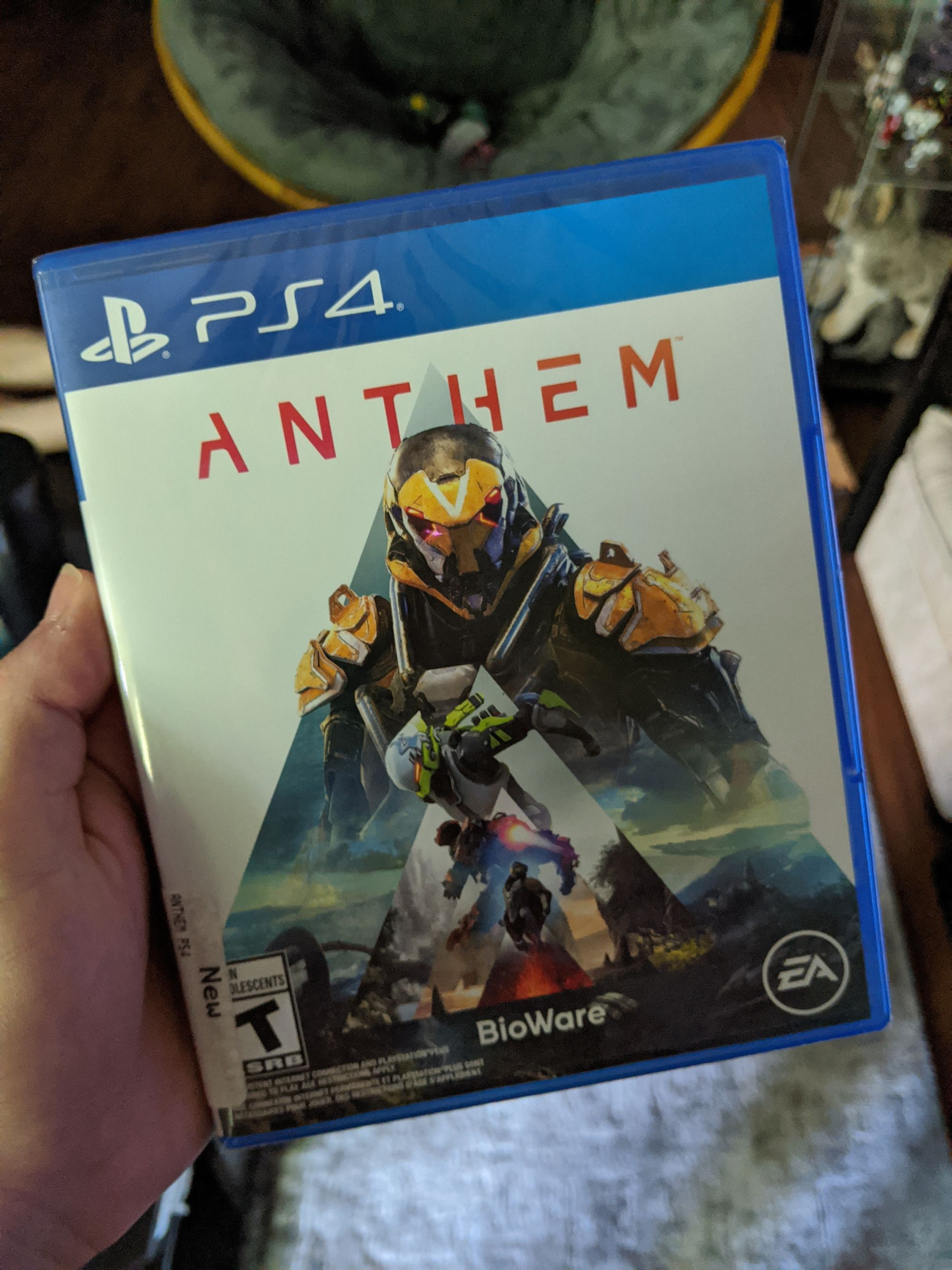 A picture of the game Anthem for PS4.