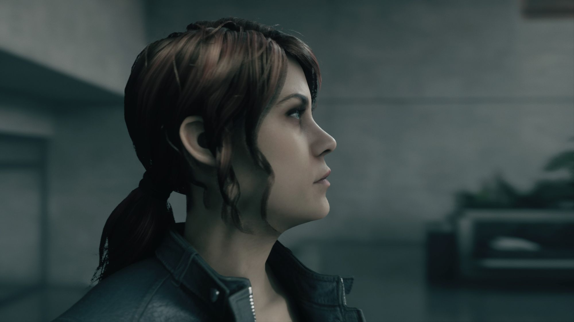 The protagonist Jesse Faden, her side profile captured in the image.